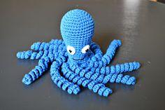 En elefant: Opskrift på hæklet blæksprutte, DIY