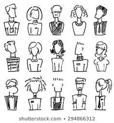 A set of doodle office avatars stock vector (royalty free .-Ein Set von Doodle-Büroavatars Stock-Vektorgrafik (Lizenzfrei) 294866312 A set of doodle office avatars - Les Doodle, Doodle Icon, Doodle Sketch, Doodle Art, Doodle Images, Doodle Ideas, Doodle Cartoon, Cartoon Faces, Cartoon Drawings
