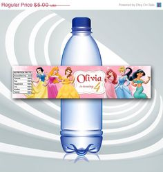ON SALE 25% Disney Princess Bottle Labels  Disney by ticketparty