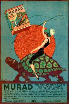 Murad cigarettes ad 1923