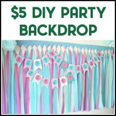 Need easy birthday banner ideas? This DIY birthday banner is simple to make and easily customizable! Who knew a homemade birthday banner could look so good? Diy Birthday Banner, Diy Clothes Rack, Diy Party, Ideas Party, Party Background, Easy Diy, Simple Diy, Super Party, Backdrops For Parties