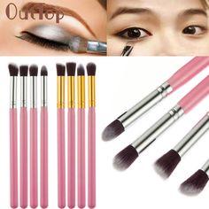 4Pcs Makeup Brushes Set Cosmetic Tool Eyeshadow Brush Nose Eye Contour Powder Foundation Blending Brush Set JAN20 #Affiliate