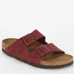 maroon suede soft footbed Birkenstocks Perfect condition never worn. Offers welcome cheaper on other app Birkenstock Shoes Sandals