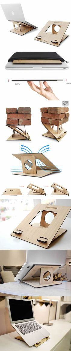 Adjustable/Portable Multiple angle Stand for Apple MacBook: