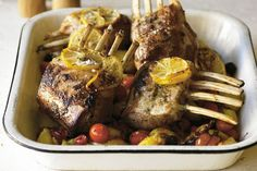Greek lamb with crispy potatoes