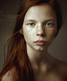 Portrait of freckle-face redhead woman by Dmitry Ageev Photography