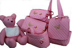 coleccion mariposa francine #maruzubiriadf #babygirl #baby #pink #babystuff #bag #laundry #bib #butterfly #teddybear #customizeyourlife #mynameonit