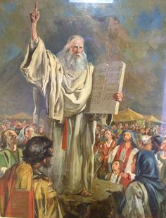 Moses brought forth the people out of the camp to meet with God; and they stood at the nether part of the mount.