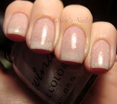 Simple and classy nude sparkle