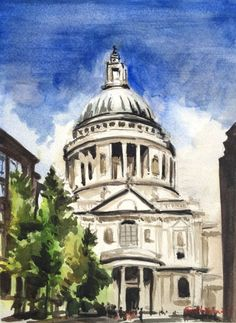St Paul's Cathedral - London - Full-frontal image, unframed