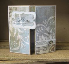 This is a lovely design with a clever mechanical feature, resembling a camera shutter action. Camera Shutter, Slider Cards, Stamp Pad, Sliders, Paper Crafts, Inspire, Inspiration, Design, Art