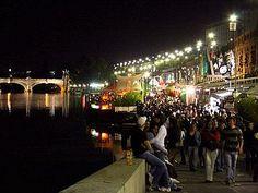 Turin nightlife-Murazzi on the Po river