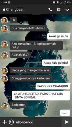 ] Slice of life with StrayKids # Acak # amreading # books # wattpad Haha Quotes, Jokes Quotes, Funny Quotes, Message Quotes, Reminder Quotes, Funny Text Pictures, Text Pranks, Funny Chat, Cute Couples Texts