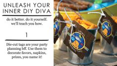 Top 4 Easy Party Craft Ideas and Favors: Die Cut Tag Party Favors #DIY #PartyIdeas @BigDotOfHappiness.com