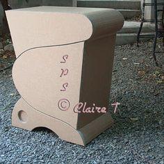 Buffet ou placard en carton