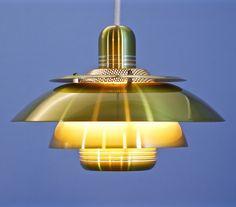 For sale: Danish pendant in brass, Danish, 1970s, Brass, Ceiling Lights, Lighting, Pendant, Vintage, Design, Danish Pastries