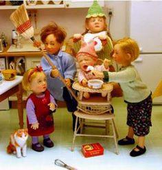 One twelve scale dolls by Catherine Muniere dolls