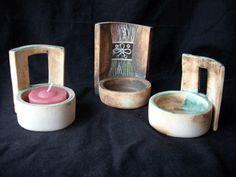Cerámica artesanal Sugar Bowl, Bowl Set, Dog Bowls, Candles, Pasta Piedra, Porta Velas, Ornaments, Decorations, Manualidades