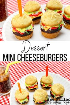 Do you have an affection for cheeseburgers? How about cupcakes? Why not have a cute mini dessert cheeseburger cupcake for a treat? As parents, we are always looking for something creative to take to our kid's parties and events. Well look no further! Unique Desserts, Cute Desserts, Delicious Desserts, Homemade Cupcake Recipes, Best Dessert Recipes, Dinner Recipes, Good Food, Yummy Food, Fun Food