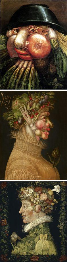 Giuseppe Arcimboldo (°1527 - †1593) is een kunstschilder uit de Italiaanse renaissance die vooral bekend werd met portretten die samengesteld waren uit allerlei voorwerpen zoals groenten, fruit, bloemen, boeken en vissen.