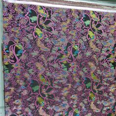 #hangzhou #china #traditional #silk #brocade #silktown #street #new #black #back #with # green #flower #pattern #3 #color #different #color #already(在 hangzhou chenxiang fabric store)