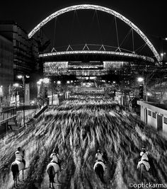 Waves    Fans heading home after the Engand v Holland friendly at Wembley.