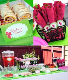 Itsy Belle: Real Parties: Garden Fairy Birthday!- Party food table