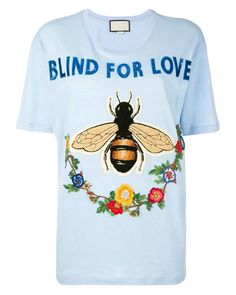 Indie Designs Blind For Love Bee Embroidered T-shirt – Indie Designs Clothing Gucci Tee, Gucci Sweatshirt, Gucci Gucci, Love Shirt, T Shirt, Embroidered Jeans, Shirt Outfit, Blind, Mens Tops