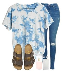 last day of school tmrw!!!!!! by madiweeksss on Polyvore featuring Madewell, Topshop, Birkenstock, Bloomingdale's, Native Union and Kate Spade