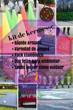 Kit Escolar de Kermesse - Ideal para Escuelas, Cumpleaños, Eventos familiares - #Kermesse #KitDeKermesse #Cumpleaños #Eventos #Escuelas #CarpasYJuegos Schools, Games, Events