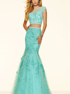 2016 Beaded Two Pieces Evening Dress/ Prom Dress Formal Dress Parai 98094