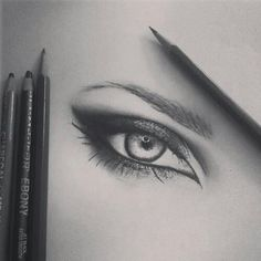 Amazing drawing of an eye