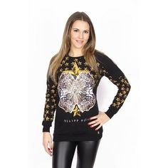 Philipp Plein ladies sweatshirt CW620064 BLACK