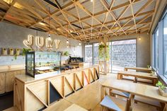 jury cafe by biasol design studio constructed from a mix of raw materials - designboom | architecture