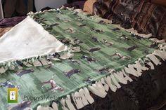 57 X 60 Double Fleece Dog Blanket by PuppyStyleDogTreats on Etsy