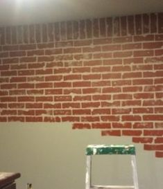 Make Your Fake Brick Wall Just By Using Blue Tape And