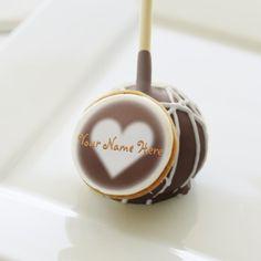 Valentine's Desert Edible Cake Pop Custom Desert