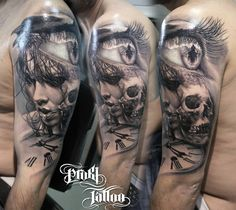 Kostas Baronis Proki new skull tattoo, more tattoo designs and skull inspirations at skullspiration.com