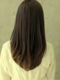 v cut for medium hair - Buscar con Google
