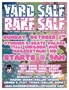 yard sale/ bake sale