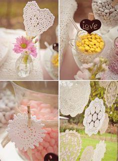Apenas Três Palavras: Sim, Eu Aceito!: Doillies, ou papel rendado, para decorar a sua festa!