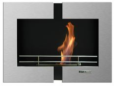 Found it at AllModern - VioFlame Wall Mount Fireplace Bioethanol Fireplace, Wall Fireplaces, Wall Mounted Fireplace, Fireplace Accessories, Steel Wall, Fireplace Design, Lowes Home Improvements, Home Wall Decor, Bathroom Fixtures