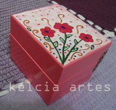 Porta-jóias Florzinha (pintado à mão)