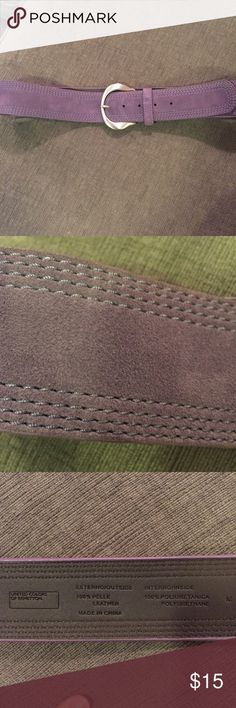 Purple suede belt. Purple suede belt.  39 inches long. 2 inches thick. United Colors Of Benetton Accessories Belts