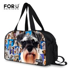 FORUDESIGNS 2017 Dog Print Women Men Luggage Travel Bags Large Weekender Bag  Casual Handbag Luggage Men 4c0bc01116