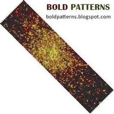 Bead Pattern peyote stitch bracelet by BoldPatterns on Etsy, $3.99