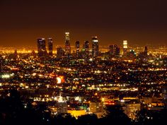 "The Los Angeles Skyline. ""The City of Angels"""
