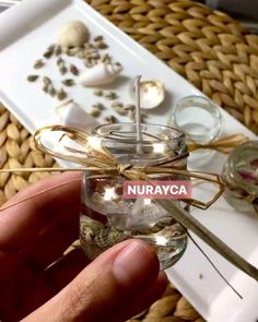 """3 Beğenme, 1 Yorum - Instagram'da Nurayca Design (@nurayca): """"İyi geceler mesaide olanlar Yeni hediyeliklerim hazır kabuklu kavanoz mumlar Bilgi ve…"""""""