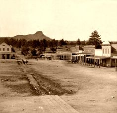 In Virgil Earp ran for Yavapai County, Arizona Sheriff, but his health was suffering and he was forced to drop out of the race. Great Places, Places To Go, Beautiful Places, Old Pictures, Old Photos, Vintage Pictures, Arizona History, Arizona City, Prescott Arizona