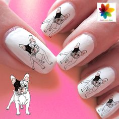 French bulldog Decal 60 Waterslide stickers by Nailsgraphicworld, $5.90